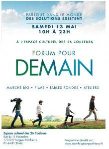 Forum pour Demain aux 26 Couleurs @ Les 26 Couleurs   Saint-Fargeau-Ponthierry   Île-de-France   France